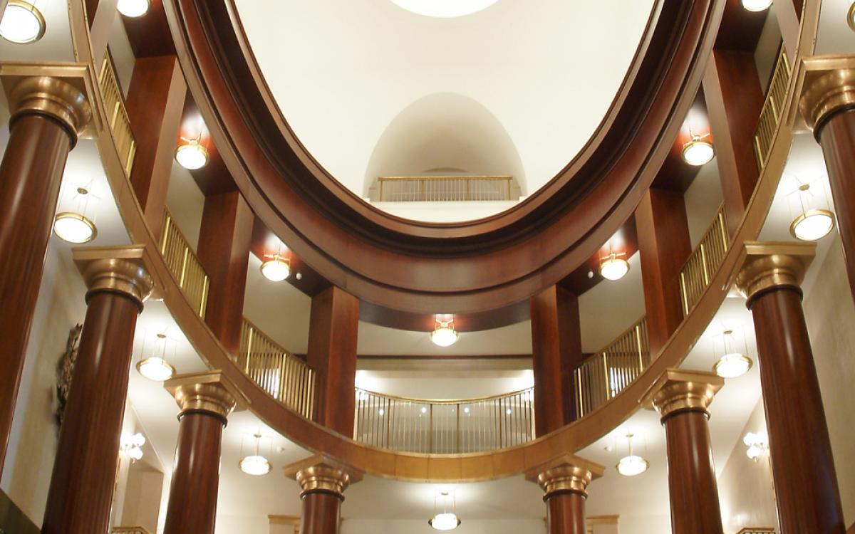Vista de los pisos superiores