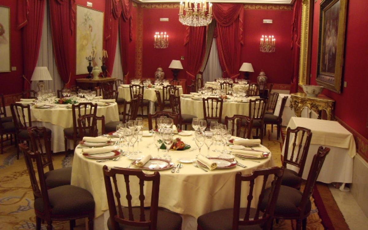 Montaje para cena privada