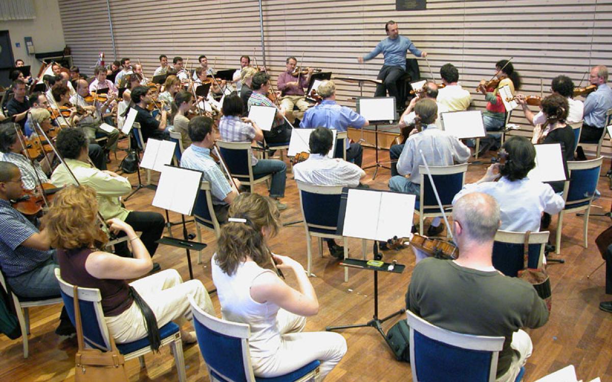 Sala de ensayo de orquesta