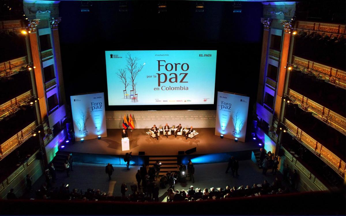 Escenario Foro Paz Colombia