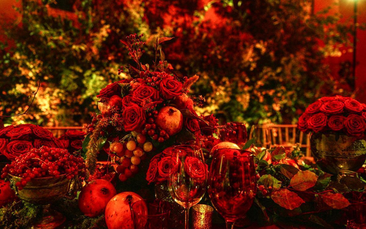 Bodegón de rosas en el Salón Vergara